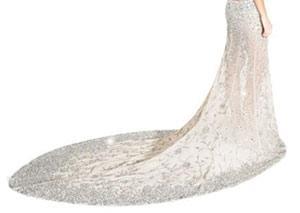 لباس شب 400 میلیون تومانی با نگین های سواروسکی