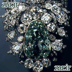 بزرگترین الماس سبز جهان : الماس درسدن