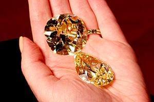 دو مورد از بزرگترین الماسهای زرد جهان به فروش گذاشته شد