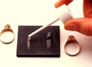 در این روش طلا را به روی سنگ کوارتز یا سنگ محک (که سنگ سیاه سیلیسی است) و در برابر اثر خورندگی اسیدها مقاوم ...